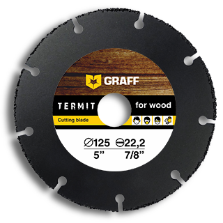 Angle grinder blade for wood GRAFF Termit 125 mm